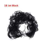 Messy Curly Haar Bun # 1B - Jet Black