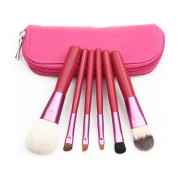 Makeup Brushes - 6 pcs - pink
