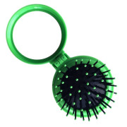 Compacte Make-up Spiegel met Borstel - Groen