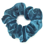 Scrunchie haar elastiek, dark mint