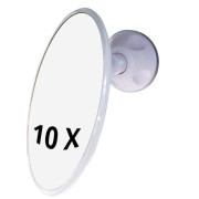 UNIQ Bathroom Mirror with Suction x10 Magnification - Wit