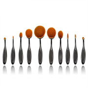 Mermaid® Ovaal Make-up Brushes - 10 Delig