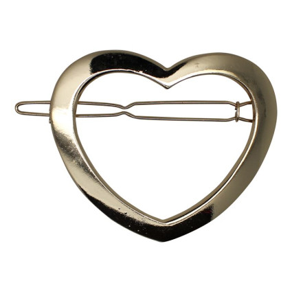 SOHO® Heart Metal Hair Clip - Gold