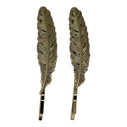 SOHO® Feather Bobby Pin 2 Stuks - Goud