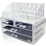 AVERY®Make-up organizer Acryl met 4 laden
