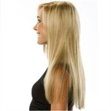 Clip-on hair extensions - 50 cm - #613 Blond