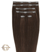 Clip on hair extensions #33 Copper brown - 7 stuks - 50 cm | Gold24