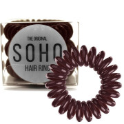 SOHO® Haarelastieken, Chocolate brown - 3 stk.