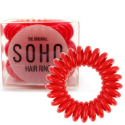 SOHO® Haarelastieken, Strawberry Red - 3 stk.