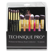 Technique PRO® Make-up Borstels, Goud editie - 10 Stuks