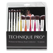 Technique PRO® Make-up Borstels, Zilver editie - 10 Stuks