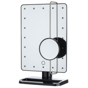 UNIQ® Hollywood Makeup Mirror with LED Light x10 Magnification - Swart