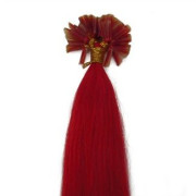Hot Fusion hair extensions - 60 cm - Rood