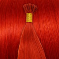 Cold Fusion hair extensions - 60 cm - Rood