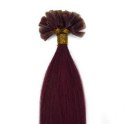 Hot Fusion hair extensions - 50 cm - #33 Rood