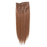 Clip-on hair extensions - 50 cm - #30 Rood Bruin