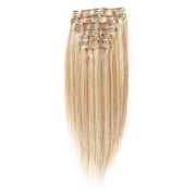 Clip-on hair extensions - 65 cm - #27/613 Lichtblond Mix