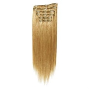 Clip-on hair extensions - 50 cm - #27 Midden Blond